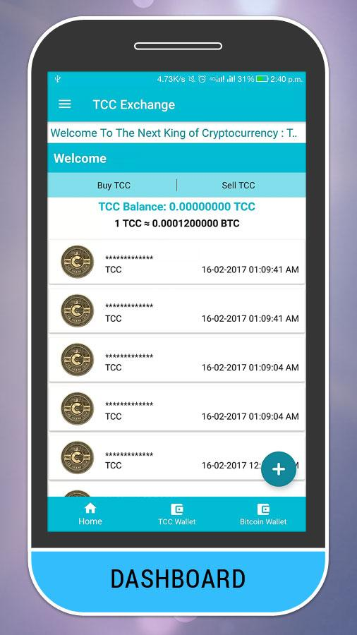 TCC - Bitcoin ChampCoin Wallet- screenshot