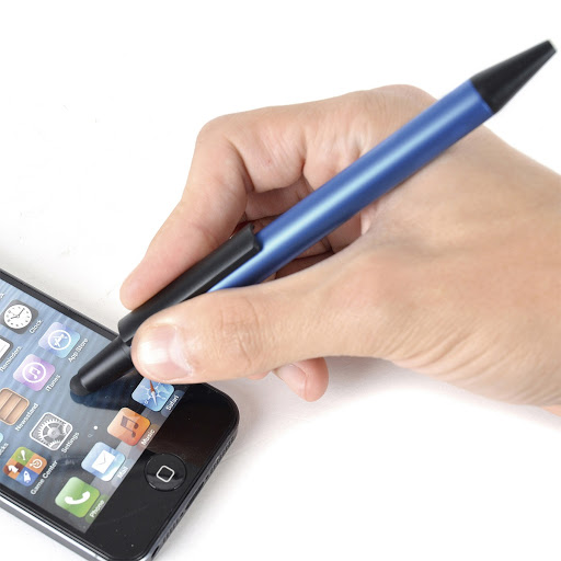 Soft Stylus Ball Pen with Soft-Top (Blue)