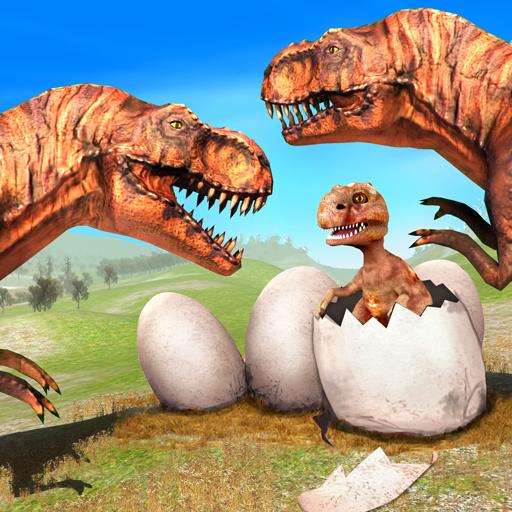 Wild Dino Family Simulator: Dinosaur Games