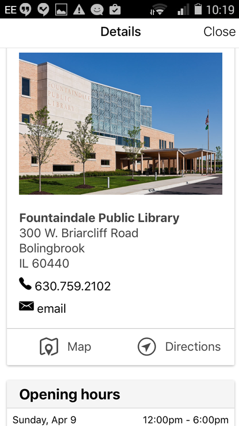 Fountaindale Public Library- screenshot