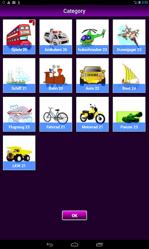 Memory-Spiele Fahrzeug