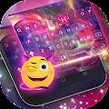 Dreamer Galaxy Emoji Keyboard Theme download