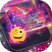 Download Dreamer Galaxy Emoji Keyboard Theme for Android.
