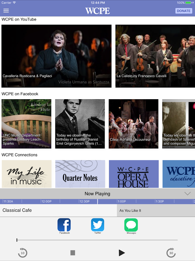 WCPE The Classical Station App– skärmdump