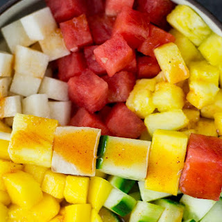 Mexican Fruit Salad [with Lime Chili Dressing].