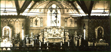 Photo: Altar of 2nd Church, 1905-1928