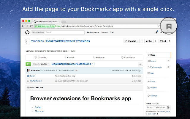 Bookmarkz: A simple bookmark management tool