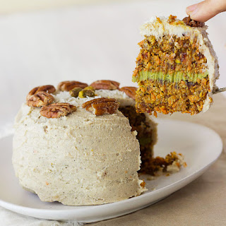 Raw Carrot Cake with Coconut-Matcha Cream