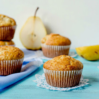 {Spiced Pear Muffins}
