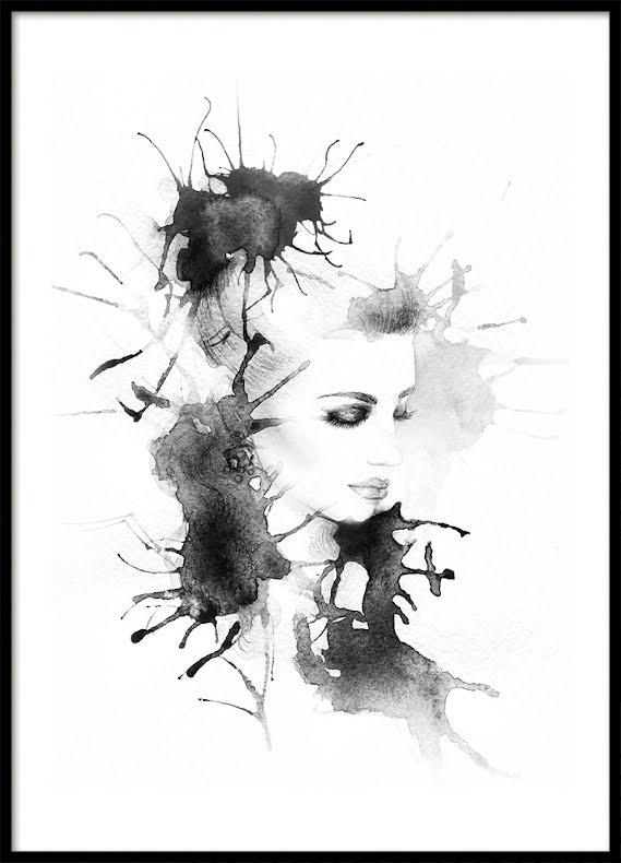 Bläck Kvinna, Poster