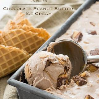 No Churn Chocolate Peanut Butter Ice Cream