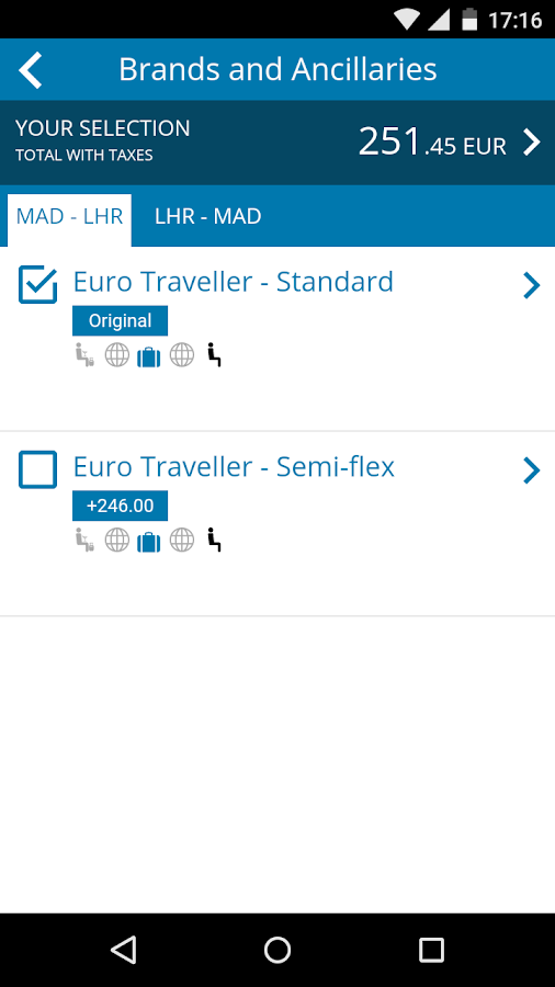 Travelport Mobile Agent- screenshot