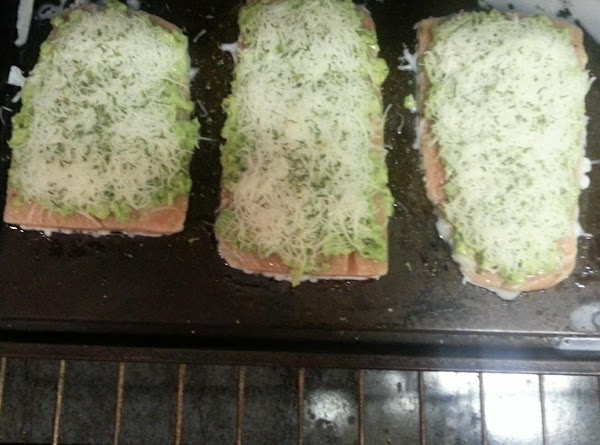 Put in oven for about 15-20 minutes. or until salmon is nice and flaky...