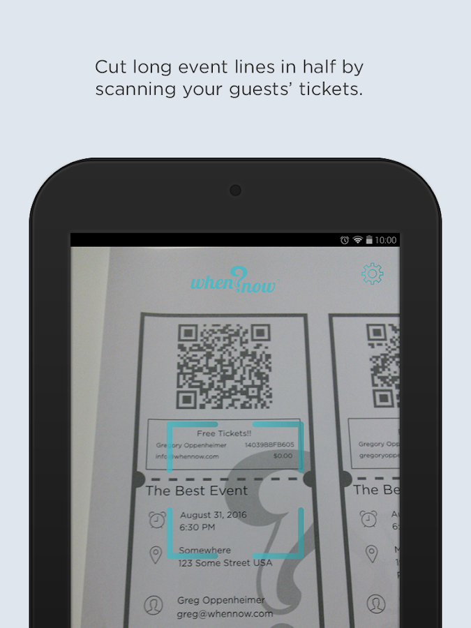 WhenNow Ticket Scanner- screenshot