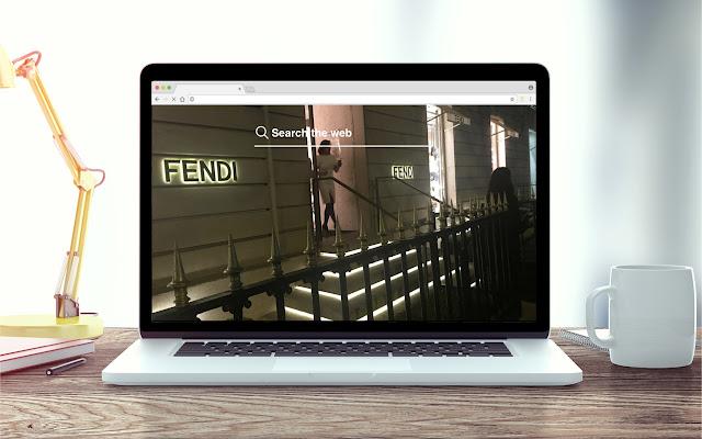 Fendi New Tab Fashion Theme