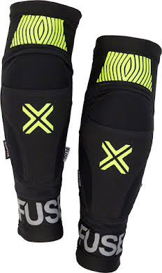 Fuse Omega Knee Pad: Black/Neon Yellow, Pair alternate image 0