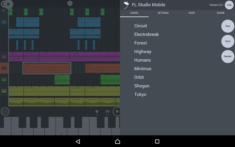 FL Studio Mobile Android App Screenshot
