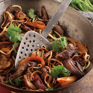 Teriyaki Beef and Noodle Stir Fry.