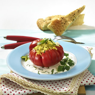 Couscous Stuffed Tomatoes.