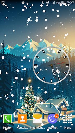Christmas Clock Live Wallpaper screenshots 1