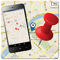 Mobile Location Tracker Map icon