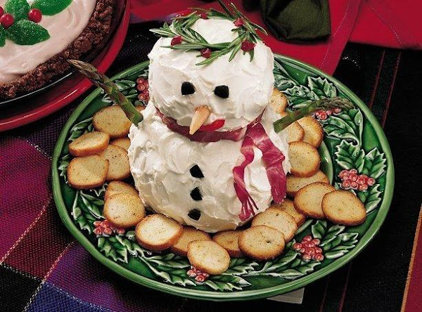 Snowman Salmon Spread Recipe