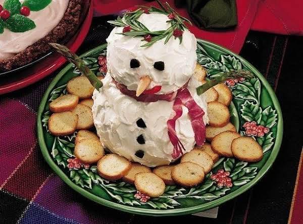 Snowman Salmon Spread Recipe