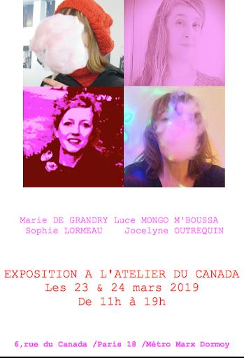la vie en rose atelier du canada expo paris 18 la chapelle arty sophie lormeau pink life artiste paris expo