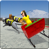 Kids Sled Dog Racing : OffRoad Snow Dogs Race 3D