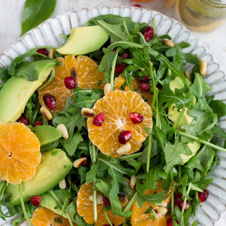 Avocado and Clementine Salad with Pomegranate.