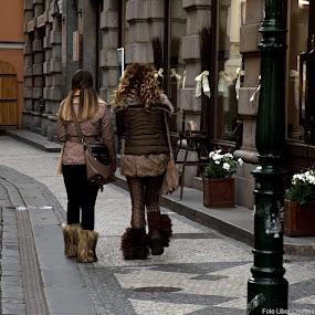 The girls by Libor Choleva - City,  Street & Park  Street Scenes