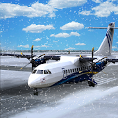 Snow Airplane Landing Sim
