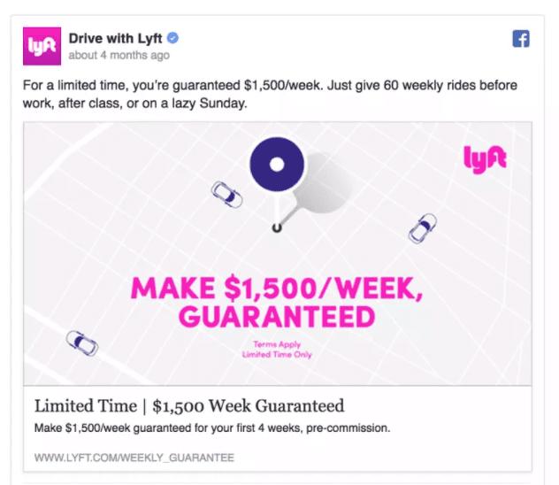 Best Facebook Ad Examples - Lyft