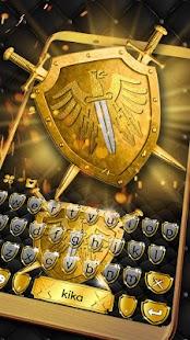 Gold Shield Keyboard Theme - náhled