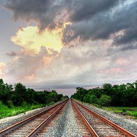 by Karen McKenzie McAdoo - Transportation Railway Tracks