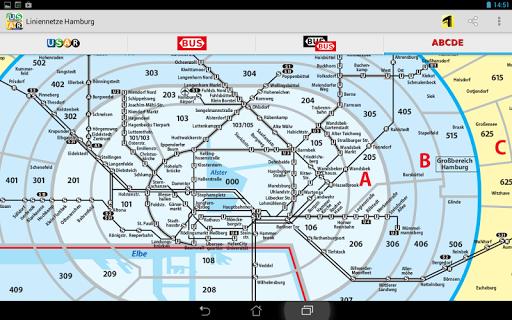 Hvv Karte Abcde.Liniennetze Hamburg Apps Bei Google Play