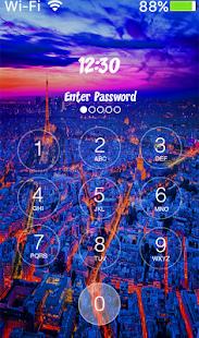 Paris Keypad Lock screen PRO screenshot