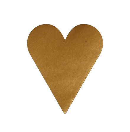 Etikett hjärta litet guld 1000