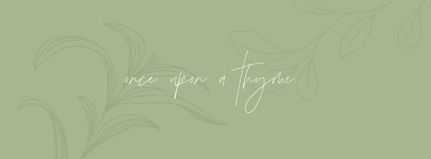 Once Upon a Thyme - Facebook Personal Cover Template