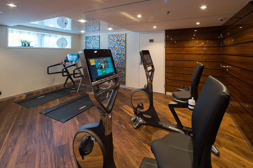 Hit the treadmill or lift some weights to stay in shape during your European vacation on AmaLea.