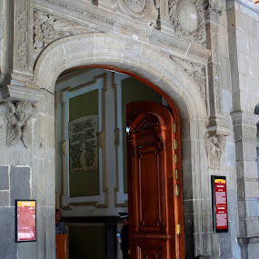 Main entrance by Cristobal Garciaferro Rubio - Buildings & Architecture Other Interior ( marble, pwcopendoors, stone, wood door )