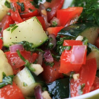 Israeli Tomato and Cucumber Salad