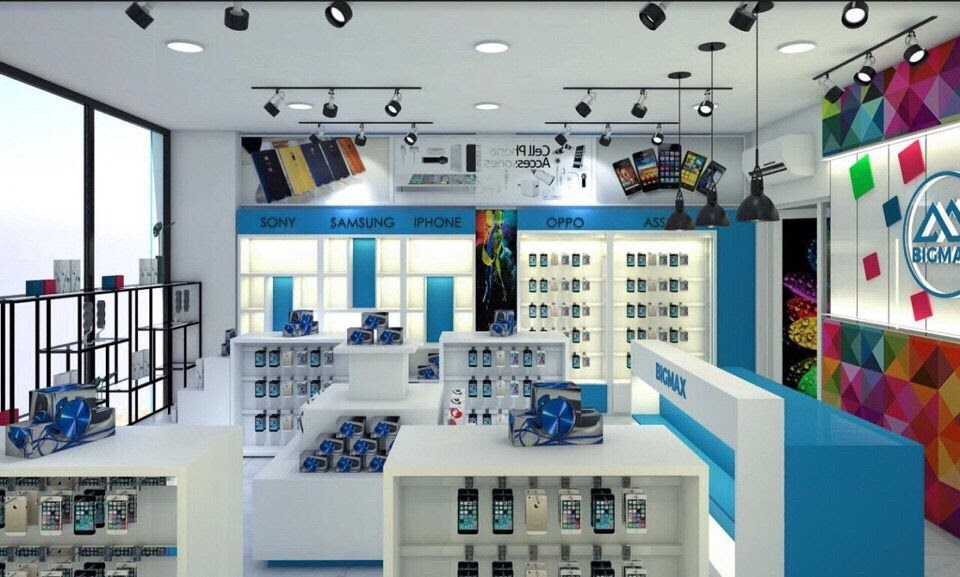 thiết kế shop phụ kiện điện thoại phong cách trẻ trung