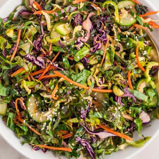 Sesame Kale Salad with Ginger Soy Dressing Recipe