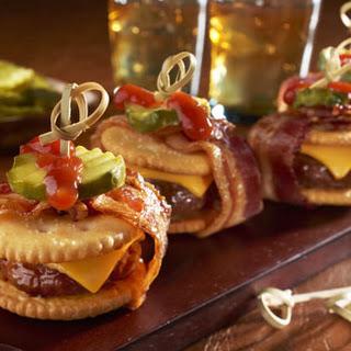 Bacon-Wrapped Cheeseburger RITZwich
