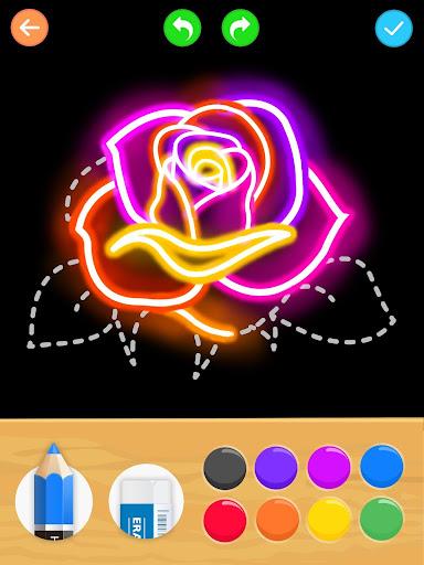 Draw Glow Flower for PC