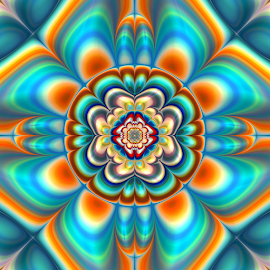 by Cassy 67 - Illustration Abstract & Patterns ( abstract, colorful, digital art, fractal, digital, fractals, flower )