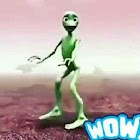 The green alien dance icon