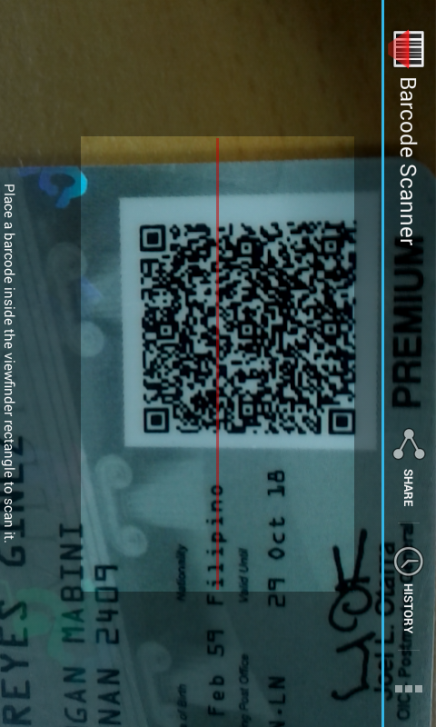 POSTAL ID Verification App- screenshot