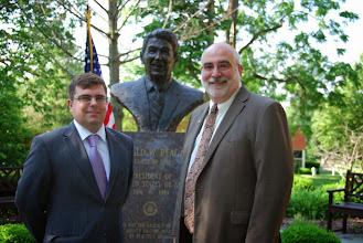 Photo: Dr. James Cooper, guest speaker at the Reagan Memorial 2013, and Eureka College President J. David Arnold
